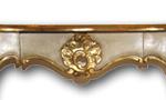 Barocke Wandkonsole mit Fassung Blattgold