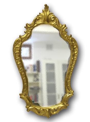 handgeschnitzter Barockspiegel mit 23 Karat Blattgoldauflage