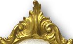 Handgeschnitzter Barockspiegel 23 Karat vergoldet