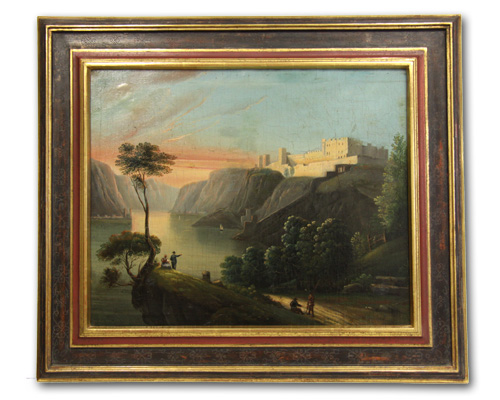 Genremalerei - Fjordlandschaft mit Festung